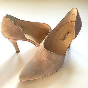 Paul Green Taupe Suede Side Scoop Pumps 7/4.5
